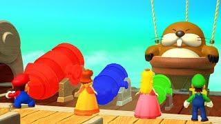 Mario Party 10 - Mario vs Luigi vs Peach vs Daisy - Minigames
