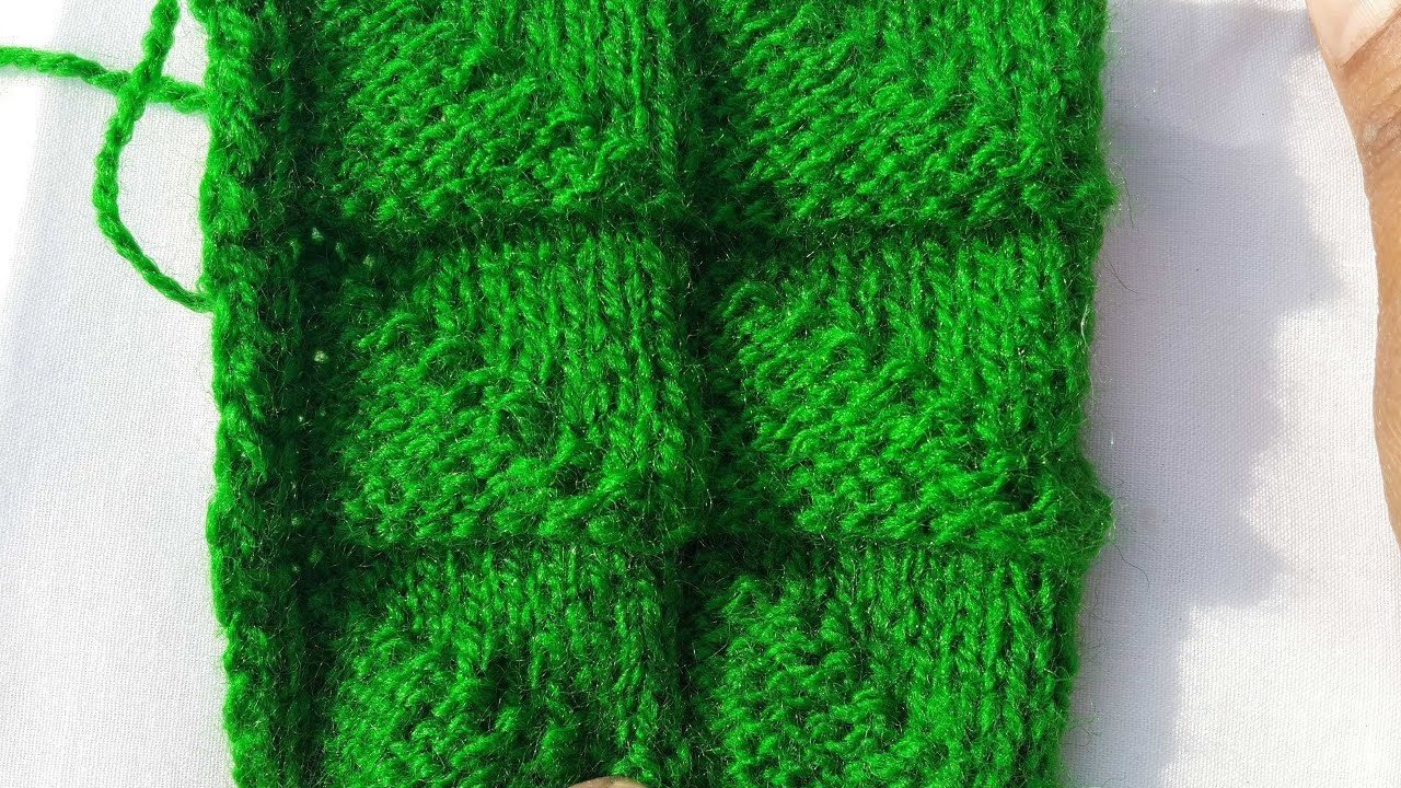 Easy Triangle Design for Sweater   Hindi   Easy Knitting - YouTube