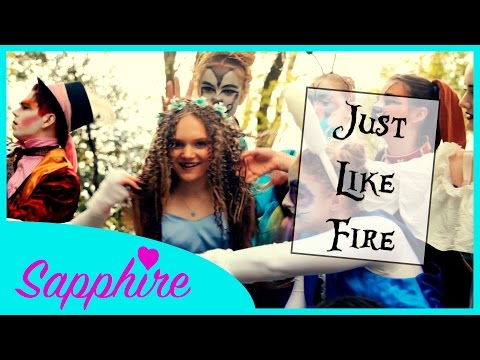 """Pink - Just Like Fire (From """"Alice Through The Looking Glass"""")   Cover by 13 y/o Sapphire"""