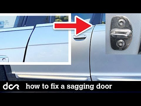 How To Fix a Sagging/Hard to close Car Door (explained on Audi, VW)