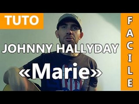 marie johnny hallyday tuto guitare facile youtube. Black Bedroom Furniture Sets. Home Design Ideas