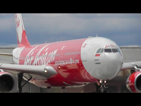 Indonesia AirAsia X A330-343 Takeoff from Melbourne Airport