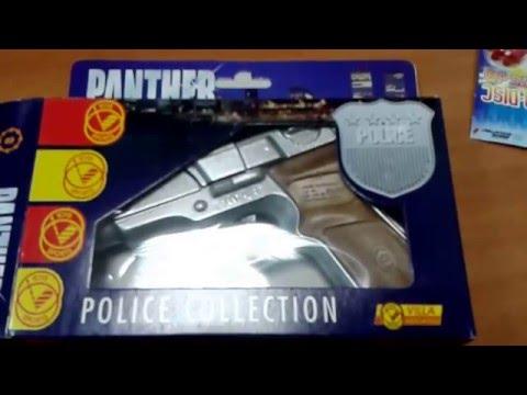 Пистолет полицейского игрушечный 17 см 8 пистонов, металл 1253 villa