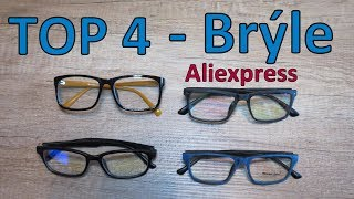 TOP 4 UNISEX Brýle - ALI HAUL│Aliexpress česky│Unboxing - levné dioptrické obroučky - TEST - CZ