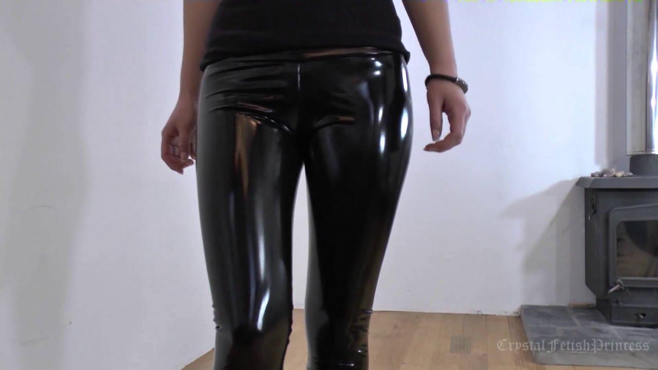Sexy Liquid Latex Leggings Slinky Fetish