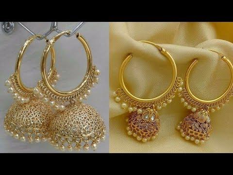 Latest gold earrings designs jhumka 2018