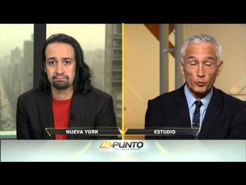 Jorge Ramos entrevista con el artista Lin Manuel Miranda