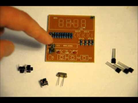 The inexpensive 4 digit digital clock diy electronics kit youtube the inexpensive 4 digit digital clock diy electronics kit solutioingenieria Gallery