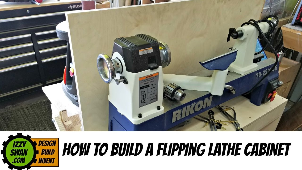 how to make) a space saving flipping lathe cabinet - YouTube