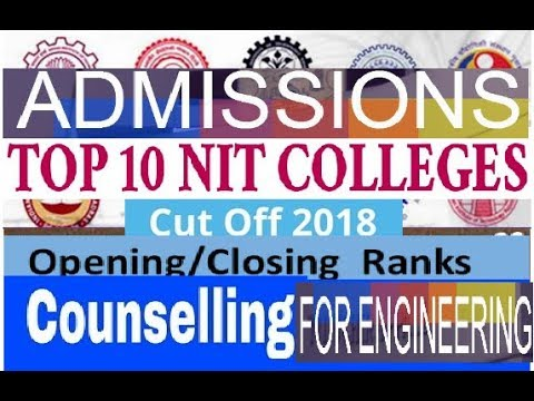 Expected  Opening & Closing Rank  for top NIT College in INDIA of year 2018