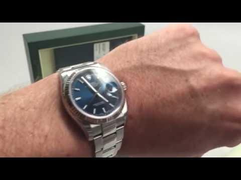 Rolex Datejust 116234 Blue Dial Oyster Bracelet Review