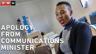 Minister of Communications and Digital Technologies, Stella Ndabeni-Abrahams, apologised to South Africans for breaching lockdown rules put in place to curb the spread of COVID-19.  #CoronavirusSA #Lockdown #MinisterOfCommunications