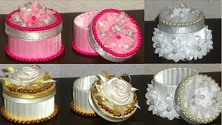 Tape Roll Gift box tutorial valentine day gift box  recycle idea/Best out of waste-diy