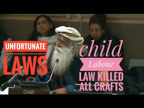 Sadhguru on the Child Labour Law( Skip to 7:20 for interesting pics)