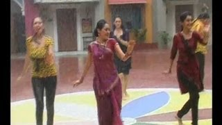 Rain dance scene-SAB TV comedy show Taarak Mehta Ka Oolta Chashma-Ladies enjoying dance in rain
