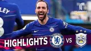 Chelsea vs. Huddersfield: 5-0 Goals & Highlights | Premier League | Telemundo Deportes