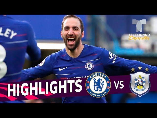 Chelsea vs. Huddersfield: 5-0 Goals & Highlights   Premier League   Telemundo Deportes