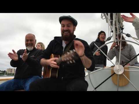 """Lyle Divinsky """"Rich"""" Acoustic Sunset Sail aboard Frances, Portland Harbor, July 8, 2016"""