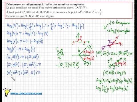nombre complexe : Comment démontrer que des points sont alignés - type Bac - très important