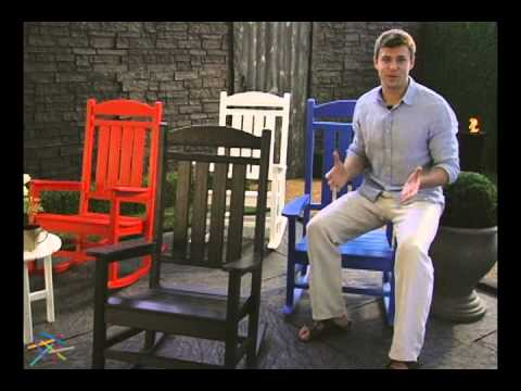 POLYWOOD® Recycled Plastic Presidential Rocking Chair - Product Review Video