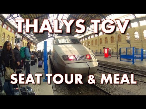 THALYS TGV FIRST CLASS SEAT TOUR & MEAL - Amsterdam to Paris Train