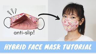 How to sew the Hybrid Face Mask FREE PATTERN NO FOG NO SLIP MY BEST FIT Gwenstella Made