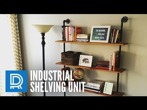 Build a DIY Industrial Pipe Shelving Unit
