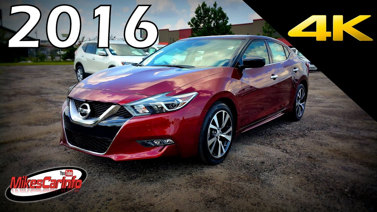 New Nissan Maxima >> 2016 Nissan Maxima S - Ultimate In-Depth Look in 4K - YouTube