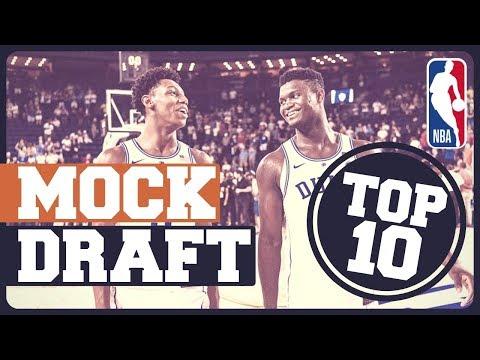 MOCK DRAFT NBA 2019 | ZION, BARRETT, MORANT, BOL BOL... thumbnail