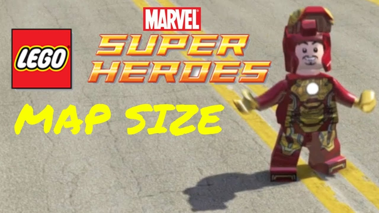 HOW BIG IS THE MAP in Lego Marvel Super Heroes? Run Across the Map