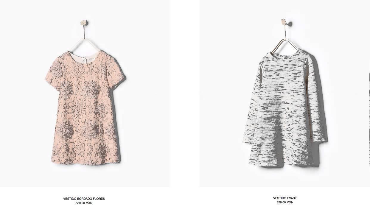 Catálogo Vestidos Zara Niña México 2015