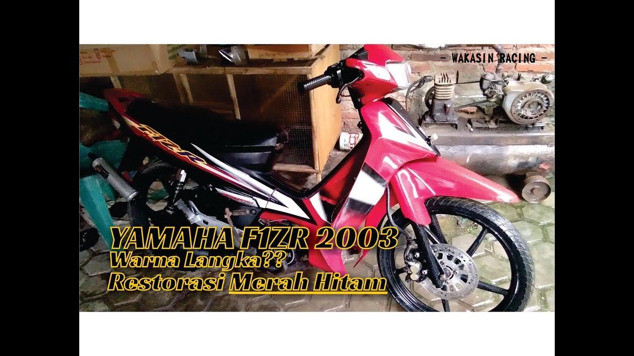 Hasil Restorasi Yamaha F1zr 2003 Merah Hitam