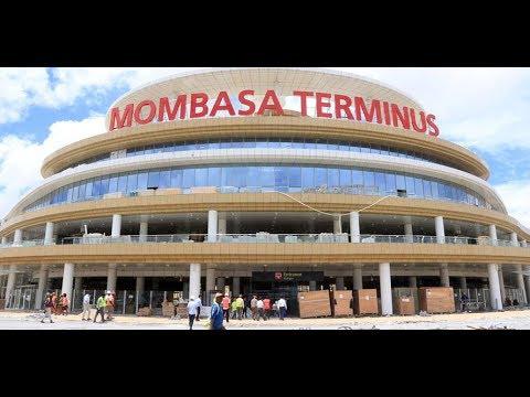 President Uhuru Kenyatta launches passenger train services at Miritini station, Mombasa