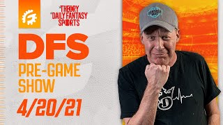 MLB DRAFTKINGS \u0026 FANDUEL DFS STRATEGY REVIEW 4/20/21 - DFS PRE-GAME SHOW