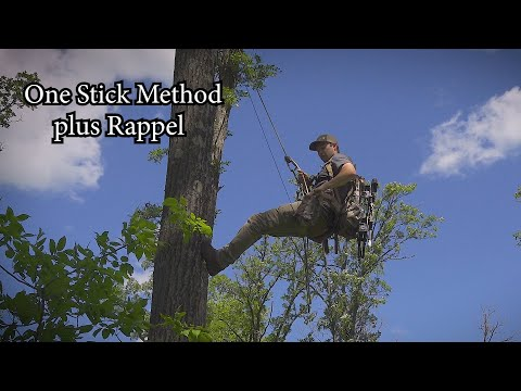 One Stick Climbing Method And Rappel