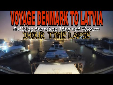 VOYAGE FROM DENMARK TO LATVIA 1HOUR TIME LAPSE/ Life at Sea