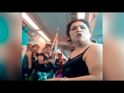 Pasajera ebria armó escándalo en vagón del Metro de Lima