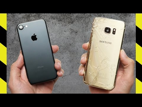 iPhone 7 vs. Galaxy S7 Edge Drop Test!