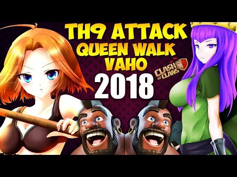 Valkyrie + Hogs: Queen Walk VAHO TH9 STRONG WAR ATTACK STRATEGY 2018 (Updated) | Clash of Clans