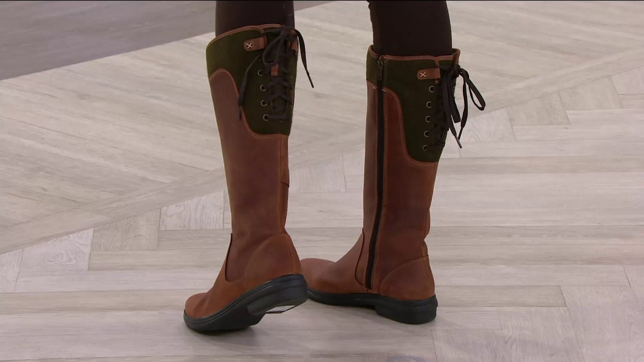 c5c4d94ba9b Clarks Artisan Leather Waterproof Tall Boots - - Tavoy Cedar on QVC