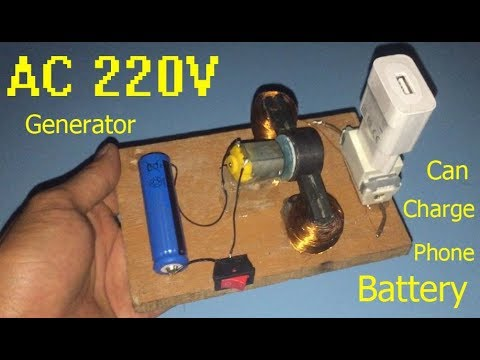 220V AC generator , can charge the phone