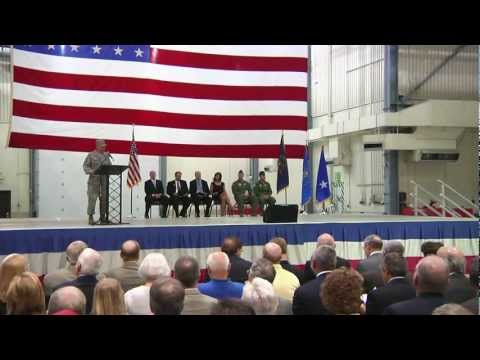 Block 40 Global Hawk Grand Forks Arrival Ceremony, June 2011