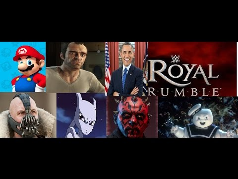 WWE 2k17 Royal Rumble Created Characters (Strange Ending)