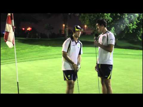 Mitch Starc: Putting with Glenn Maxwell