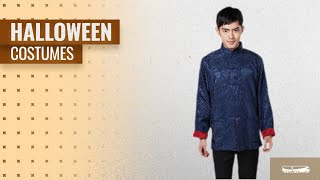 Jtc Men Halloween Costumes [2018]: JTC Men's Tang Suit Chinese Kong Fu Top Tai Chi Han Shirt