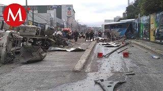 Carambola en la autopista México-Toluca deja 15 heridos