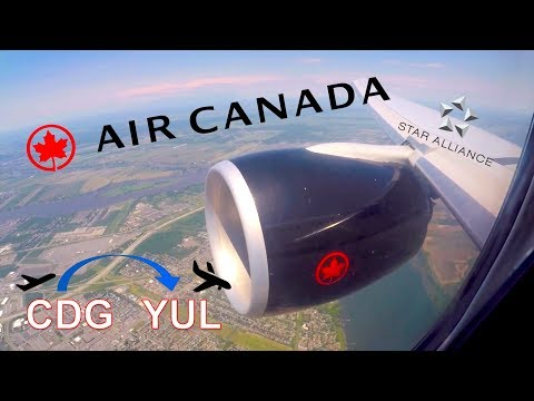 ✈︎ FULL FLIGHT ✈︎ Air Canada ✈︎ Star Alliance | Paris To Montreal