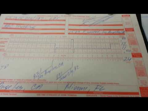 How To Make / Do Paper Logs For Semi Truck Drivers | Drivers Daily Log Book