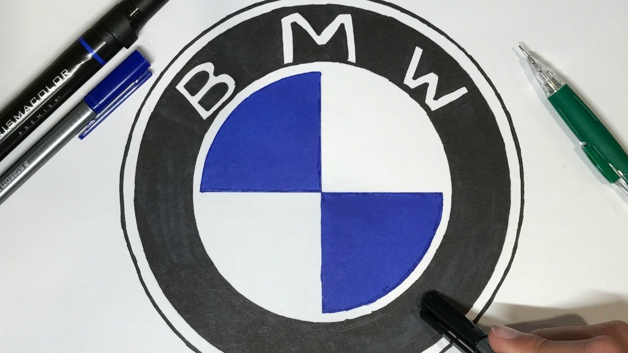 How To Draw The Bmw Logo Logo Drawing Youtube
