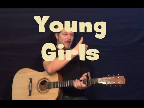 Young Girls Bruno Mars Guitar Lesson How To Play Tutorial Strum